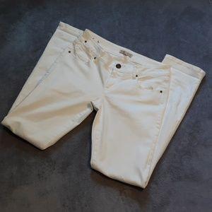 CAbi women's size 4 white skinny jeans